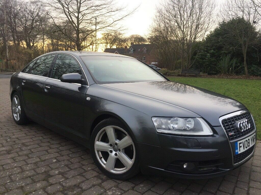 2008 Audi A6 2.0 Diesel S Line Automatic 7G 18 Inch Alloy wheels Color screen Sat nav and DVD player