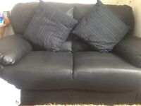 2 seater black sofa in very good condition