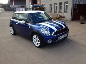 "57 PLATE MINI COOPER 1.6 CHILLI PACK,LOTS OF EXTRAS 17""ALLOYS 60000MILES FSH £4500"