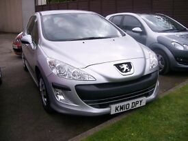 PEUGEOT 308 S. Automatic. 1598cc.Petrol. Air Conditioning. Electric Windows and Mirrors.
