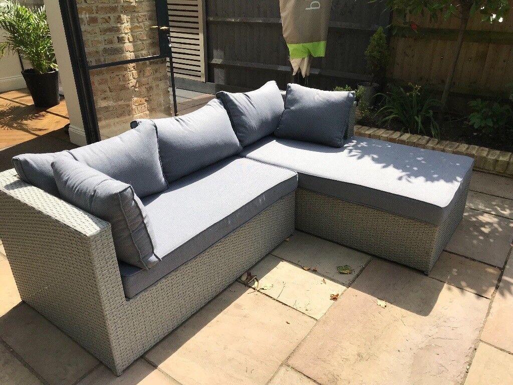 Grey Garden Furniture Set - great condition. Left hand set ...