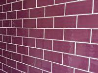Hampton Purple Ceramic Tiles