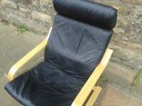 Leather Ikea Armchair
