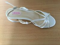 Bridal shoes - Ivory satin, size 40 unworn £20