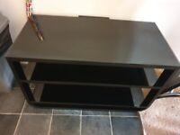 TV Stand - Black Glass John Lewis