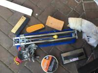 Tile cutter and tools