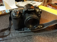 Fuji S5 Pro DSLR camera,two lenses, accessories and rucksack