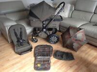 Bugaboo Cameleon 3 ltd Edt diesel khaki camouflage with Parasol seat liner and net