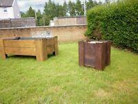 Rustic Reclaimed Wooden Garden Planters