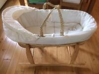 Moses basket and bedding