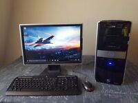 "HP Pavillion Desktop, AMD Phenom Quad Core, 4GB RAM, 500GB HDD, Nvidia 210, 19"" Monitor, Win 10"