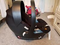 Car seat and isofix base CYBEX ATON (mamas and papas)