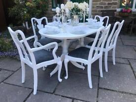Dining Table & 6 Chairs ~ EXTENDING