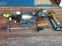 Various electric and manual tools