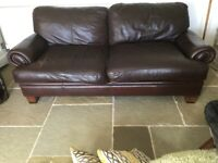 c9d57c39998 John Lewis Tetrad Leather sofa x2 large one and small one
