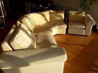 3 Piece Modular Living Room Suite - Beige