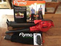 Flymo Power Vac 3000 - Leaf Blower, Vac, Mulcher