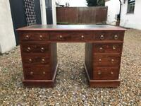 Antique Victorian pedestal desk