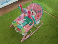 Fisher Price Rainforest Infant-to-Toddler Rocker in Pink