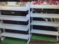 2 steel gondola white shelves £35 each