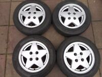 "FORD ESCORD COSWORTH, FIESTA, PUMA, KA, 14"" inch ALLOY WHEELS"