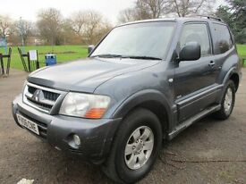 2006 06 MITSUBISHI SHOGUN DI-D 4 WORK LOW 83K LONG MOT 12/17 CLIMATE TRACTION ROOF BARS PX-SWAPS