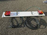 TRAILER NUMBER PLATE HOLDER AND CABLE