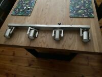 Four bulb chrome spotlight bar