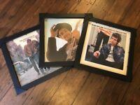 "3x Black LP 12"" Vinyl Display Frames"