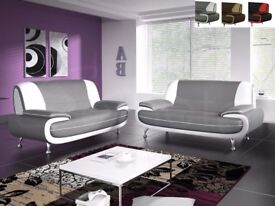 same day delivery 3 + 2 faux leather sofa set in red black grey white and black white
