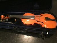 Second hand 3/4 sized violin for sale.