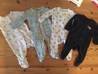 Newborn babygrows