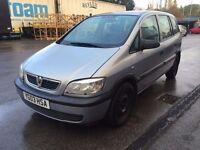 03 plate -Vauxhall zafira - 1.6 petrol - 10 months mot- 7 seater- good drive - family car