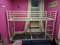 Bunk Bed Frame - White - Good condition -