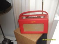 Roberts leather DAB/FM Radio in red. Superb condition. Unmarked.