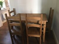 Table and four chairs. Good condition