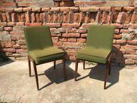 Pair of Vintage Danish Style Dining Chair Sleek Comfy Original Mid-Century
