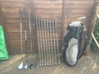 Golf clubs-Driver-Fairway Wood-Hybrid-matching Irons-Putter-Golf Bag-Golf Glove-Golf balls & tees
