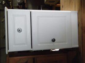 white bedside locker