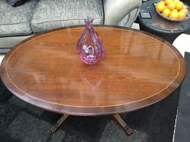 For sale LARGE OVAL COFFEE TABLE In good condition- Any sensible offer considered.