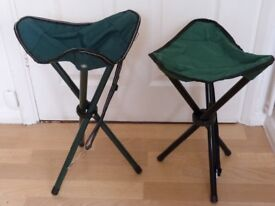 2 off camping stools for sale