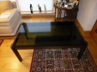 Norwegian large glass coffee table