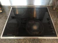 Indesit ceramic glass cooker hob glass electric