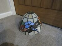 Tiffany style stain glass dragonfly lamp shade