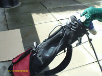 JUNIOR RIGHT HAND GOLF CLUBS (FOR TALL JUNIOR) WITH STAND BAG