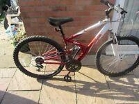 unisex apollo fs mountain bike with lock £45.00