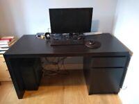 IKEA desk MALM black