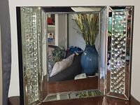 Stunning Rhombus Crystal Free Standing Dressing Table Mirror