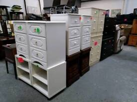 White bedside chests of drawers and other sets