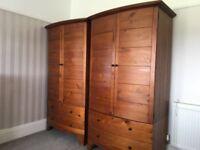 Solid hardwood 6 piece bedroom furniture